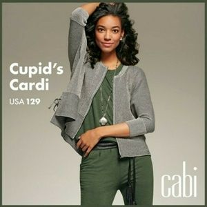 Cabi Full Zip Cupid's Cardigan Sweater S 3526